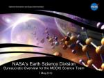 NASA's Earth Science Division Bureaucratic Overview for the MODIS Science Team