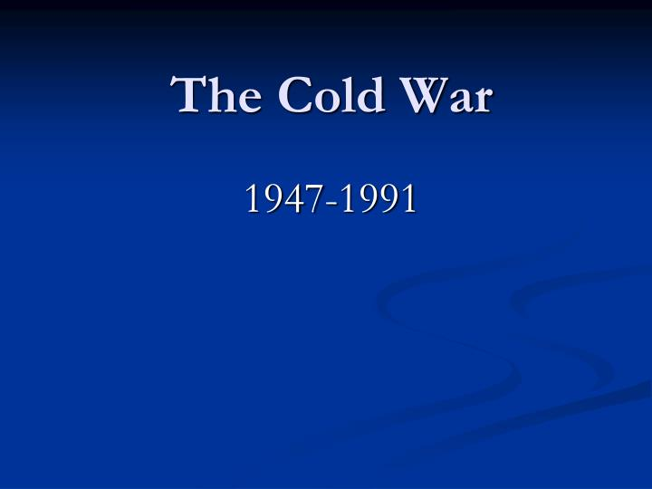 the cold war n.