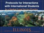 Protocols for Interactions with International Students