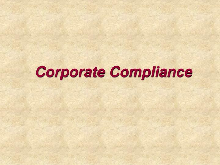 corporate compliance n.