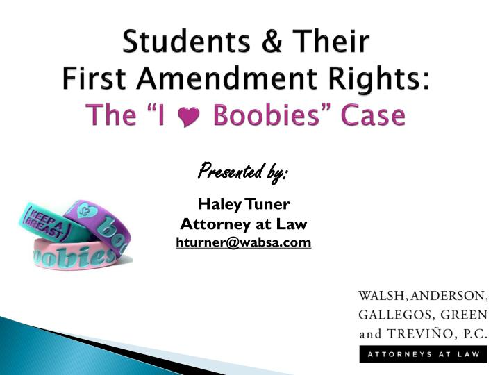 students their first amendment rights the i boobies case n.