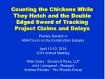 Counting the Chickens While They Hatch and the Double Edged Sword of Tracking Project Claims and Delays