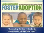 """Connecting  Children  in Need with Churches and Families Who CARE"""