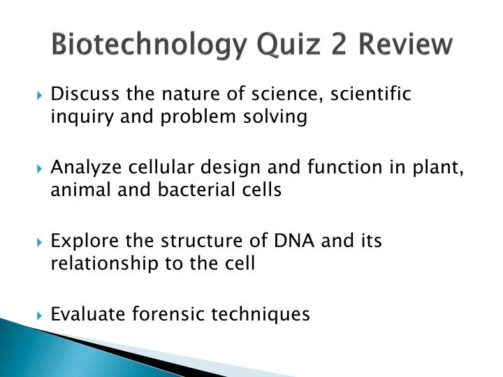 biotechnology quiz 2 review n.