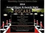 Wembley Downs Tennis Club 2014 Annual Dinner & Awards Night
