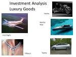 Investment Analysis  Luxury Goods