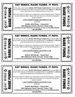 EAT WINGS. RAISE FUNDS. IT PAYS.