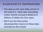 A Look at the U.S. Total Retail Sales