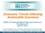 Economic Trends Affecting Automobile Insurance
