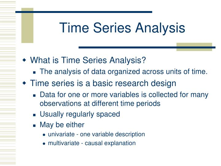 time series analysis n.