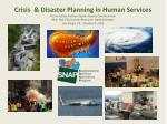 HOW THE HUMAN SERVICE AGENCY'S  ROLE IS EVOLVING