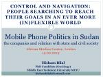 Mobile Phone Politics in Sudan the companies and relation with state and civil society