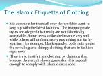 The Islamic Etiquette of Clothing