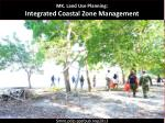 MK. Land Use Planning:  Integrated Coastal Zone Management