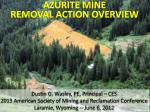 AZURITE MINE REMOVAL ACTION OVERVIEW