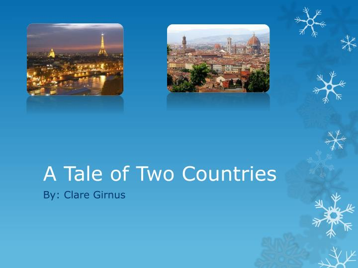 a tale of two countries n.