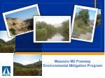 Measure M2 Freeway Environmental Mitigation Program
