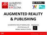 AUGMENTED REALITY & PUBLISHING