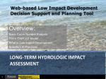 long-term hydrologic impact assessment