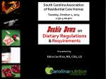South Carolina Association  of Residential Care Homes Tuesday, October 1, 2013 2:30-4:00 pm
