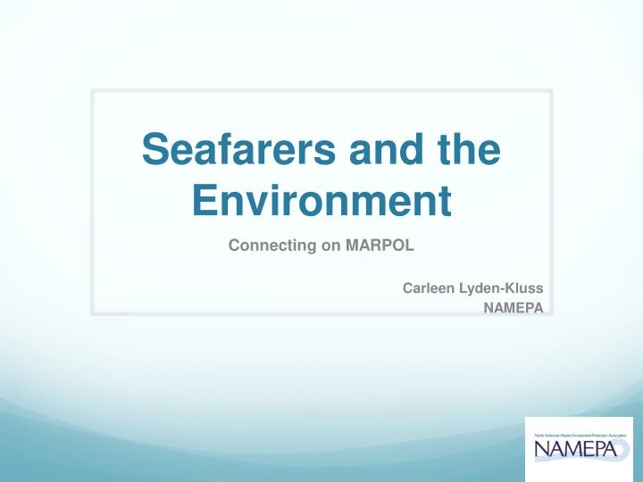 seafarers and the environment n.