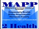Community Health  Status Assessment: Fluvanna County