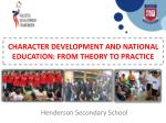 CHARACTER DEVELOPMENT AND NATIONAL EDUCATION: FROM THEORY TO PRACTICE