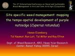 Site specific weed management: mapping the tempo-spatial development of purple nutsedge ( Cyperus rotundus ) Hanan Eizen