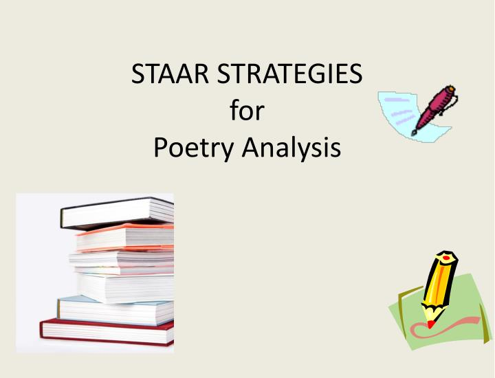 staar strategies for poetry analysis n.
