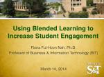 Using Blended Learning to Increase Student Engagement