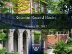 Reunion Record Books