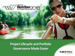 Project Lifecycle and Portfolio Governance Made Easier