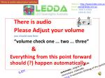 """There is audio Please Adjust your volume you should now hear """"volume check one ... two ... three"""" &"""
