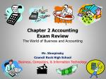 Chapter 2  Accounting Exam Review The World of Business and Accounting