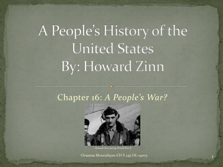 a people s history of the united states by howard zinn n.