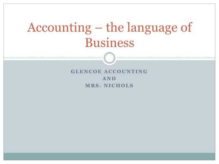 accounting the language of business n.
