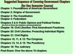 Chapter 1: Foundations of American Government Chapter 2: Origins of Government Chapter 3: The Constitution Chapter 4: Fe