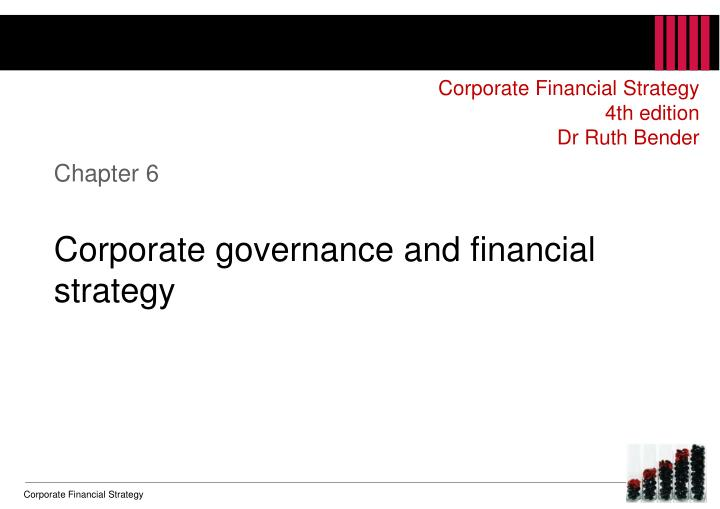 chapter 6 corporate governance and financial strategy n.