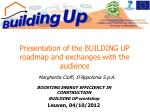 Presentation of the BUILDING UP roadmap and exchanges with the audience