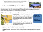 Southwest Asia ( M iddle East) Environmental Issues