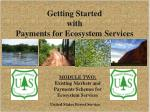 Getting Started  with  Payments for Ecosystem Services
