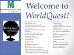 Welcome to WorldQuest !