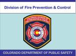 Division of Fire Prevention & Control