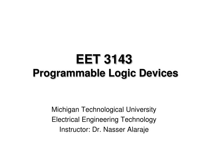 eet 3143 programmable logic devices n.