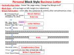 Personal  Block  Style  Business  Letter