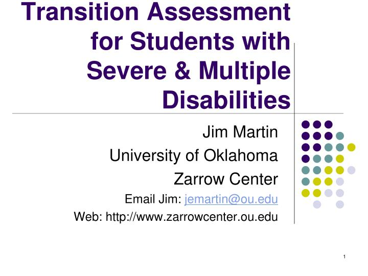 transition assessment for students with severe multiple disabilities n.