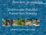 Stormwater  Pollution Prevention Training