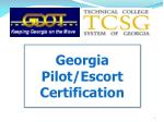 Georgia Pilot/Escort Certification