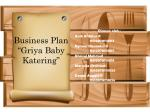"Business Plan ""Griya Baby Katering"""