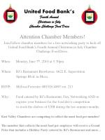United Food Bank's Fourth Annual Christmas in July Chamber Challenge Food Drive